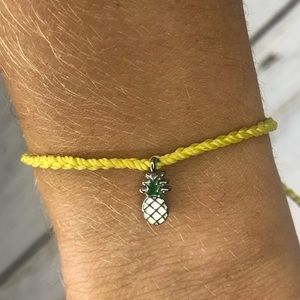 Yellow pineapple pura vida bracelet